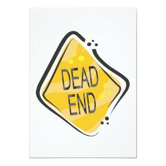 Dead End 13 Cm X 18 Cm Invitation Card