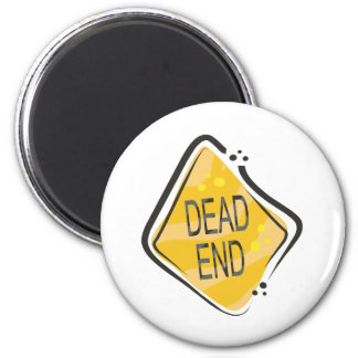 Dead End 6 Cm Round Magnet