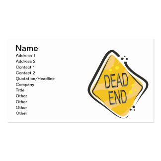 Dead End Pack Of Standard Business Cards