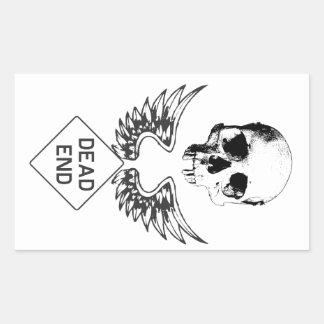 Dead End Rectangular Sticker