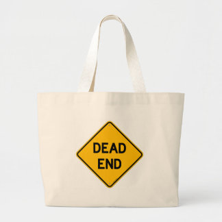Dead End Sign Canvas Bags
