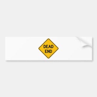 Dead End Sign Bumper Sticker