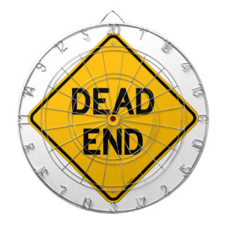 Dead End Sign Dartboard With Darts