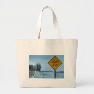 Dead End Sign Jumbo Tote Bag