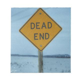 Dead End Sign Memo Pads