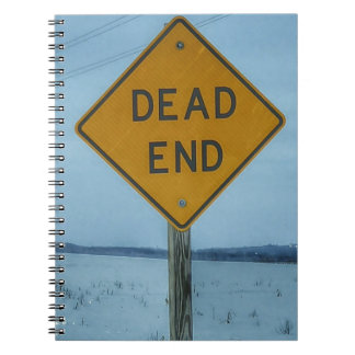 Dead End Sign Note Book