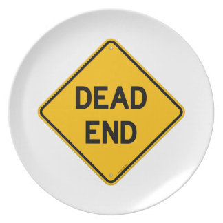 Dead End Sign Party Plates