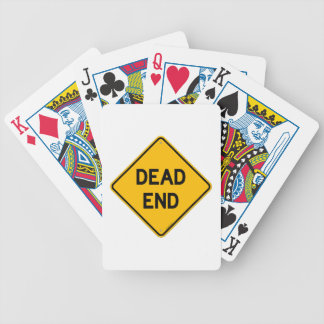 Dead End Sign Playing Cards