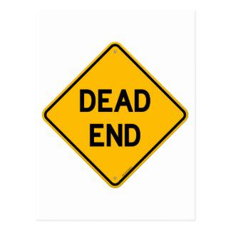 Dead End Sign Postcard