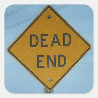 Dead End Sign Square Sticker