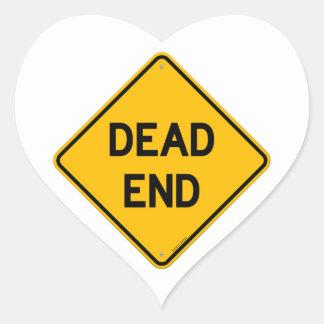 Dead End Sign Heart Sticker