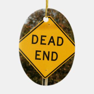 Dead End Street Sign Ceramic Oval Decoration