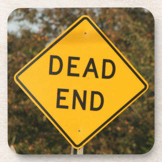 Dead End Street Sign Drink Coasters