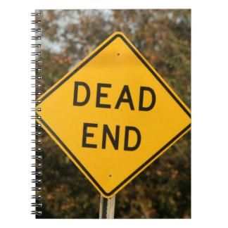 Dead End Street Sign Note Book