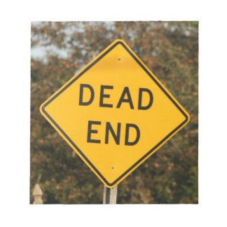 Dead End Street Sign Notepad