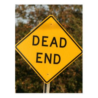 Dead End Street Sign Postcard