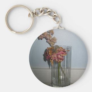 Dead Flowers Basic Round Button Key Ring