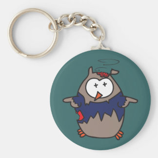Dead Galoot Hoot (Zombie Owl) Basic Round Button Key Ring