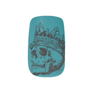 Dead Girl Royal Skull Nail Art
