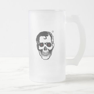 Dead Head beverage containment unit Frosted Glass Mug