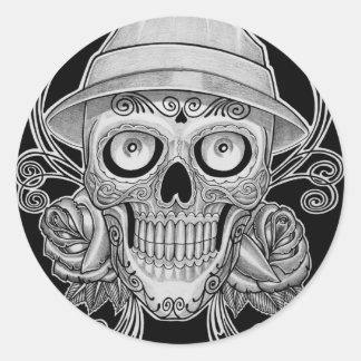 dead head round sticker
