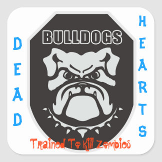 Dead Hearts Novels Square Sticker