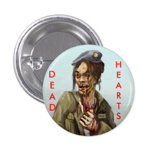 Dead Hearts Novels Zombie Girl 3 Cm Round Badge