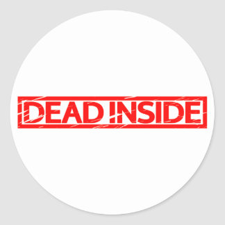 Dead inside Stamp Classic Round Sticker