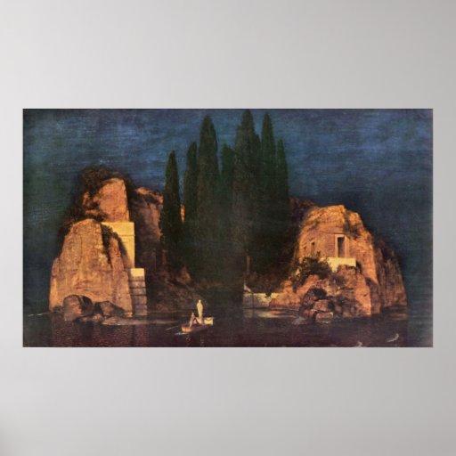 Dead island by Franz von Stuck Poster