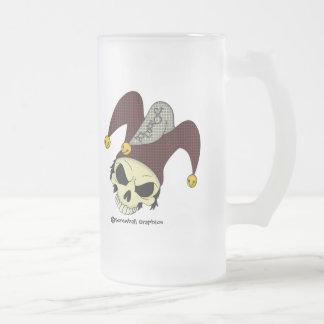 Dead Joker Frosted Beer Mug