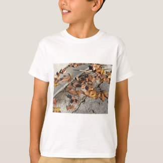Dead leaves lying on the ground in the fall T-Shirt
