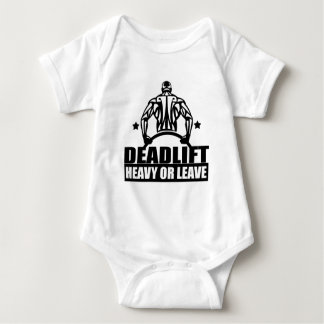 dead lift heavy or leave baby bodysuit