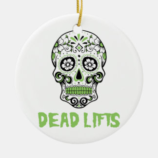 Dead Lifts Ceramic Ornament