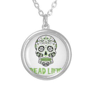 Dead Lifts Silver Plated Necklace