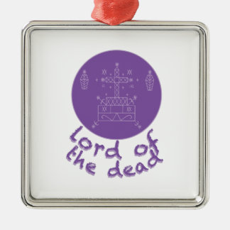 Dead Lord Silver-Colored Square Ornament
