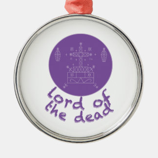 Dead Lord Silver-Colored Round Decoration