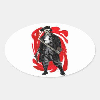Dead Men Tell No Tales Oval Sticker