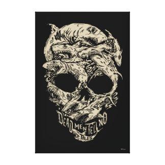 Dead Men Tell No Tales Skull Canvas Print