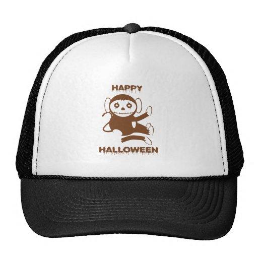 Dead Monkey Happy Halloween Trucker Hat