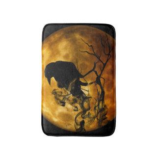 Dead moon crow bath mat