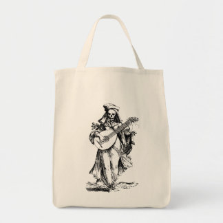 DEAD Musician - black print Grocery Tote Bag