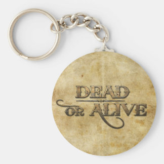 Dead or Alive Basic Round Button Key Ring