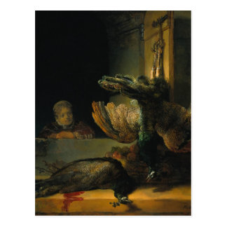 Dead peacocks by Rembrandt Postcard