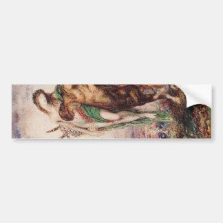 Dead poet borne by a centaur bumper sticker