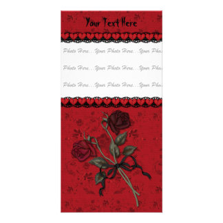 Dead Red Rose Card