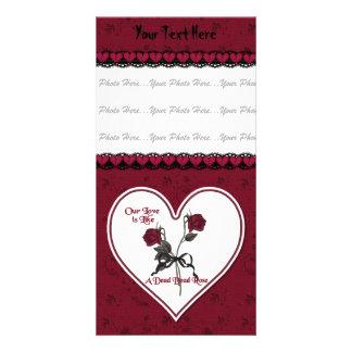Dead Red Rose Custom Photo Card