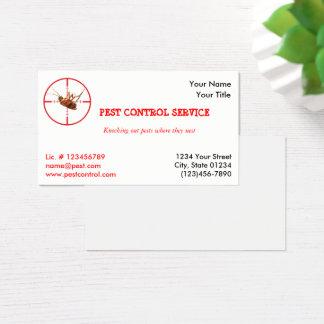 Dead Roach Pest Service 1 Sided Business Card v2