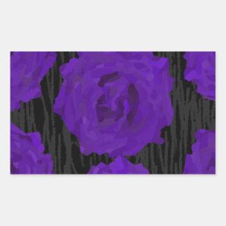dead roses rectangular sticker