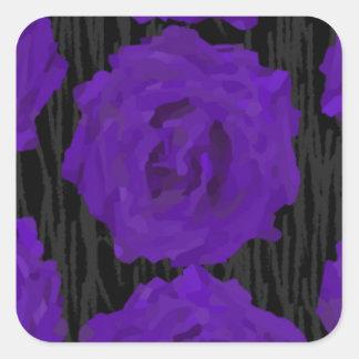 dead roses square sticker