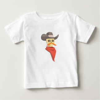 Dead Sheriff Head And Star Pin Drawing Isolated On Baby T-Shirt